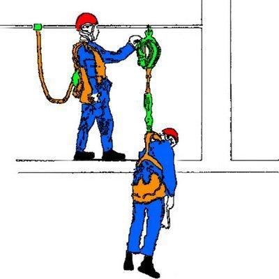 Спасательный подъёмно-эвакуационный полиспаст «Спасатель» — самый маленький и простой в использовании «грузоподьёмный» полиспаст, которым можно осуществить подъём сорвавшегося с высоты работника.