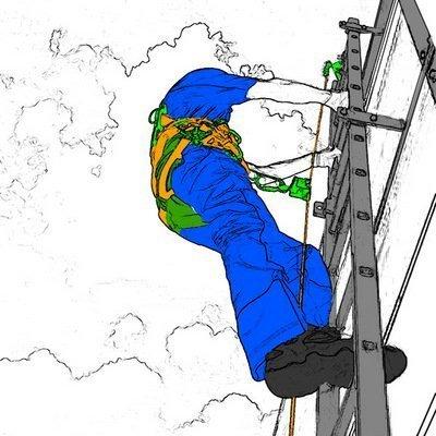 Вертикальная жёсткая система защиты от падения с высоты: ССС-Т — стационарно устанавливаемая гибкая тросовая система для обеспечения безопасности работника при подъёме/спуске