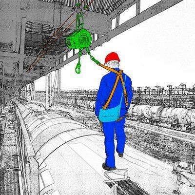 Горизонтальная система защиты от падения с высоты «Тавр» — жёсткая балочная система для обеспечения безопасности работника при работе на крышах поставленных под разгрузку-погрузку вагонов или длинномерных автоприцепов, таких как молоковозы, бензо- и цементовозы и пр.