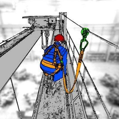 Горизонтальная тросовая анкерная линия «МОБИ-СТИЛ» — временно или стационарно устанавливаемая горизонтальная анкерная линия (anchor line) или горизонтальные перила для работы вдоль края монтажных горизонтов или вдоль уклонов.
